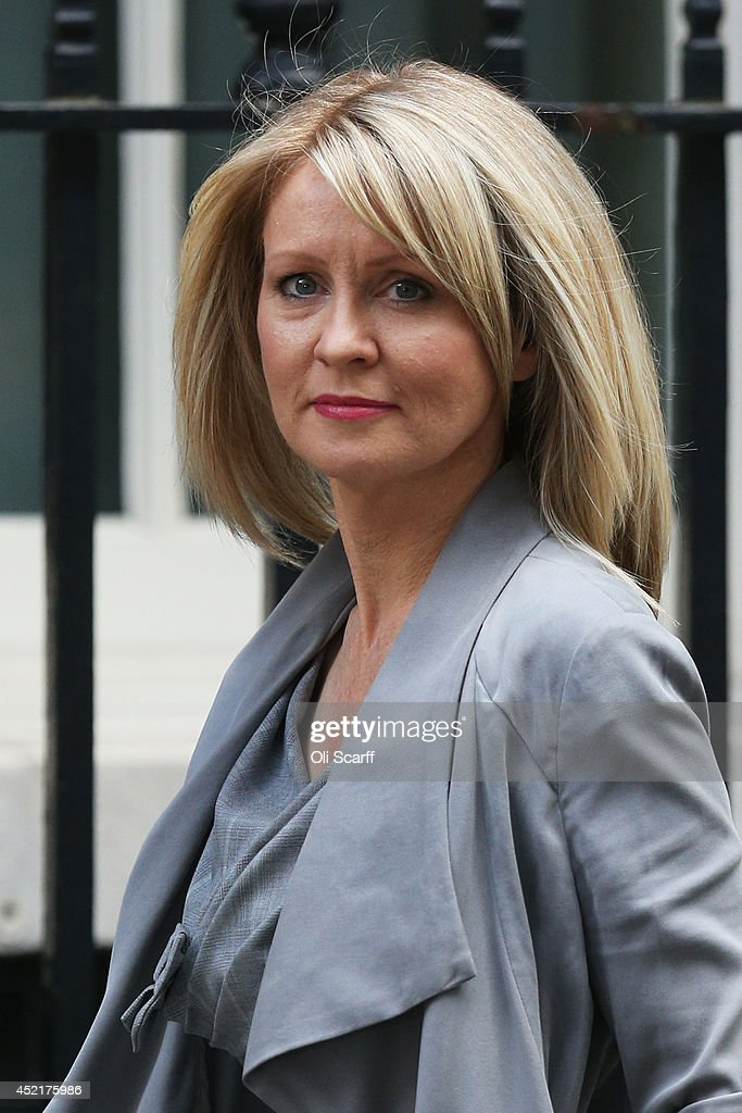 <a gi-track='captionPersonalityLinkClicked' href=/galleries/search?phrase=Esther+McVey&family=editorial&specificpeople=3052067 ng-click='$event.stopPropagation()'>Esther McVey</a>, Minister for Employment and Disabilities, arrives at Downing Street on July 15, 2014 in London, England. British Prime Minister David Cameron is conducting a reshuffle of his Cabinet team with a greater number of women expected to be appointed to senior positions.