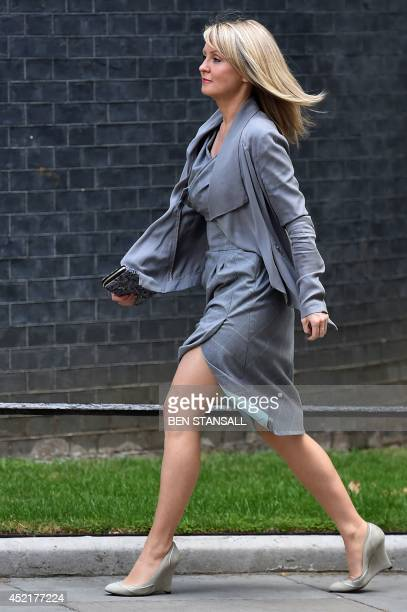 Esther McVey Minister for Employment and Disabilities arrives in Downing Street in London on July 15 2014 Britain's Prime Minister David Cameron...