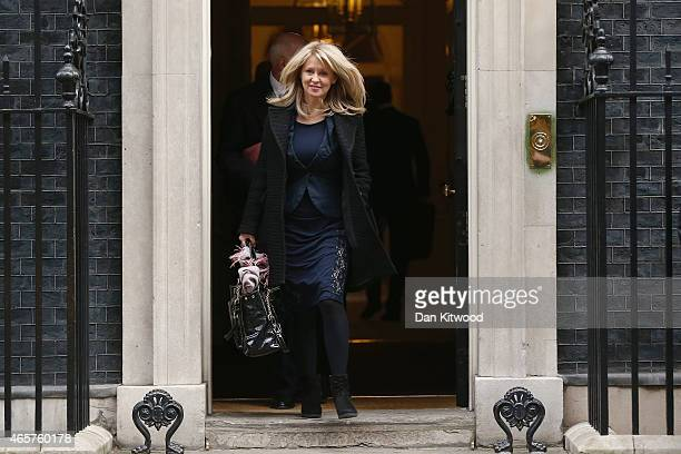 Esther McVey Minister for Employment and Disabilities leaves after the weekly cabinet meeting at Downing Street on March 10 2015 in London England