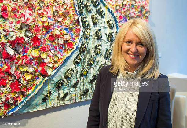 Esther McVey MP attends the private view of 'Flight' by artist Scarlett Raven at the Hay Hill Gallery on April 10 2012 in London England