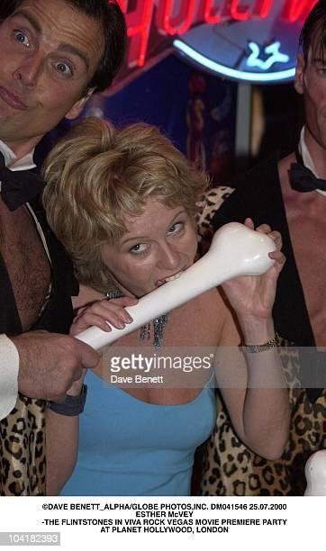 Esther Mcvey The Flintstones In Viva Rock Vegas Movie Premiere Party At Planet Hollywood London