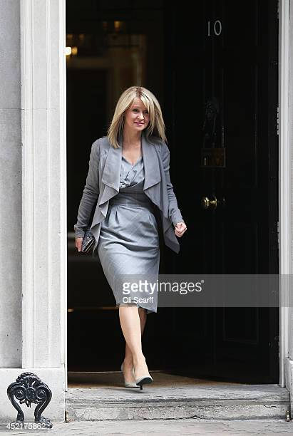 Esther McVey who will continue in her role as Minister for Employment and Disabilities departs Downing Street on July 15 2014 in London England...