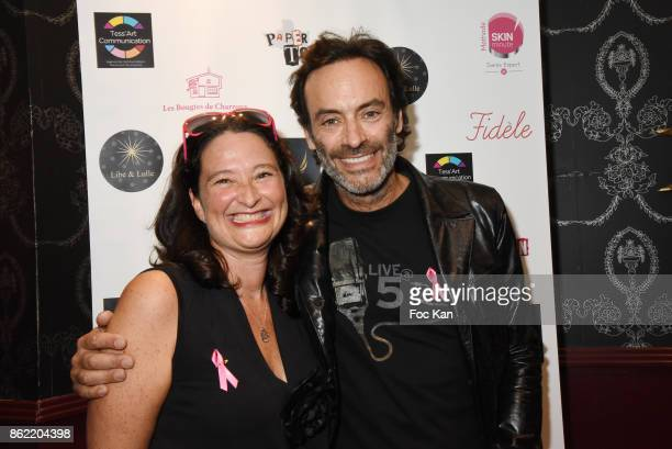PR Esther Meyniel and Anhony Delon attend the 'Souffle de Violette' Auction Party As part of 'Octobre Rose' Hosted by Ereel at Fidele Club on October...