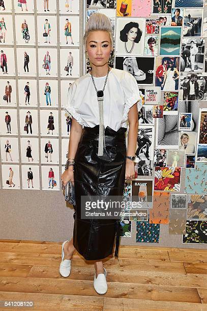 Esther Quek attended the Bally Men's Spring Summer 2017 Presentation on June 19 2016 in Milan Italy