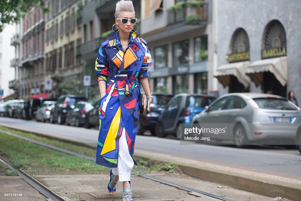 Image result for esther quek colorful trench