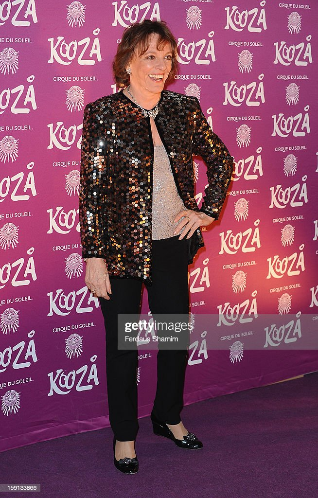 Esther Rantzen attends the opening night of Cirque Du Soleil's Kooza at Royal Albert Hall on January 8, 2013 in London, England.