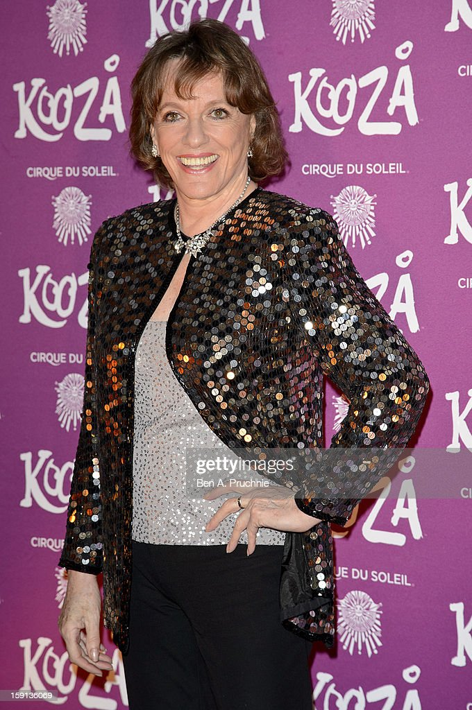 Esther Rantzen attends the opening night of Cirque Du Soleil's Kooza at the Royal Albert Hall on January 8, 2013 in London, England.