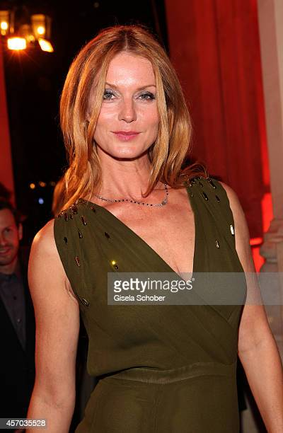 Esther Schweins attends the Hessian Film And Cinema Award 2014 on October 10 2014 at Alte Oper in Frankfurt am Main Germany