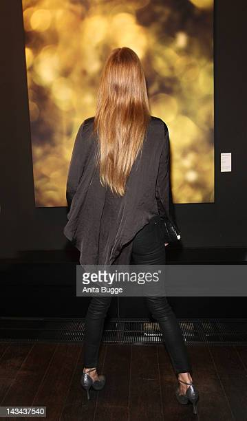 Esther Schweins attends the 'Stars In Disguise' Vernissage at the restaurant 'Moskau' on April 26 2012 in Berlin Germany