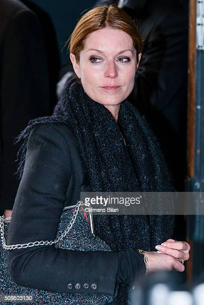 Esther Schweins attends the Wolfgang Rademann memorial service on February 11 2016 in Berlin Germany