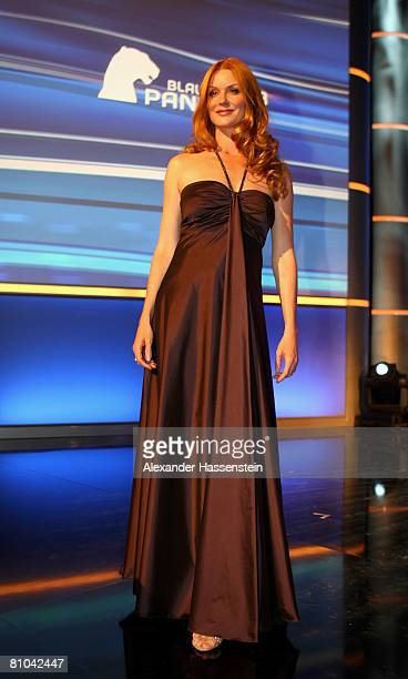Esther Schweins is seen on stage during the Bavarian Television Award 2008 at the Prinzregenten Theatre on 9 May 2009 in Munich Germany