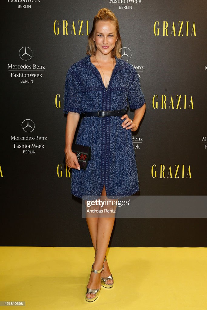 Esther Seibt arrives for the Opening Night by Grazia fashion show during the Mercedes-Benz Fashion Week Spring/Summer 2015 at Erika Hess Eisstadion on July 7, 2014 in Berlin, Germany.
