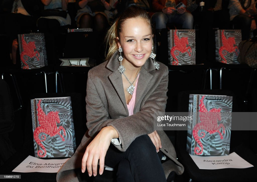 Esther Seibt attends Miranda Konstantinidou Autumn/Winter 2013/14 fashion show during Mercedes-Benz Fashion Week Berlin at Brandenburg Gate on January 18, 2013 in Berlin, Germany.