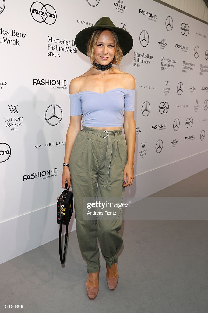 Esther Seibt attends the 'Designer for Tomorrow' show during the Mercedes-Benz Fashion Week Berlin Spring/Summer 2017 at Erika Hess Eisstadion on June 30, 2016 in Berlin, Germany.