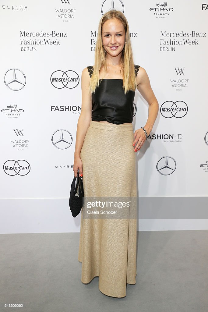 Esther Seibt attends the Minx by Eva Lutz show during the Mercedes-Benz Fashion Week Berlin Spring/Summer 2017 at Erika Hess Eisstadion on June 29, 2016 in Berlin, Germany.