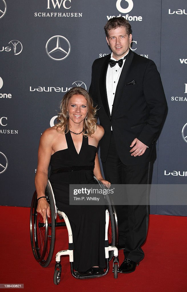 <a gi-track='captionPersonalityLinkClicked' href=/galleries/search?phrase=Esther+Vergeer&family=editorial&specificpeople=622149 ng-click='$event.stopPropagation()'>Esther Vergeer</a> and guest arrive at the Laureus World Sports Awards 2012 at the Queen Elizabeth Hall on February 6, 2012 in London, England.