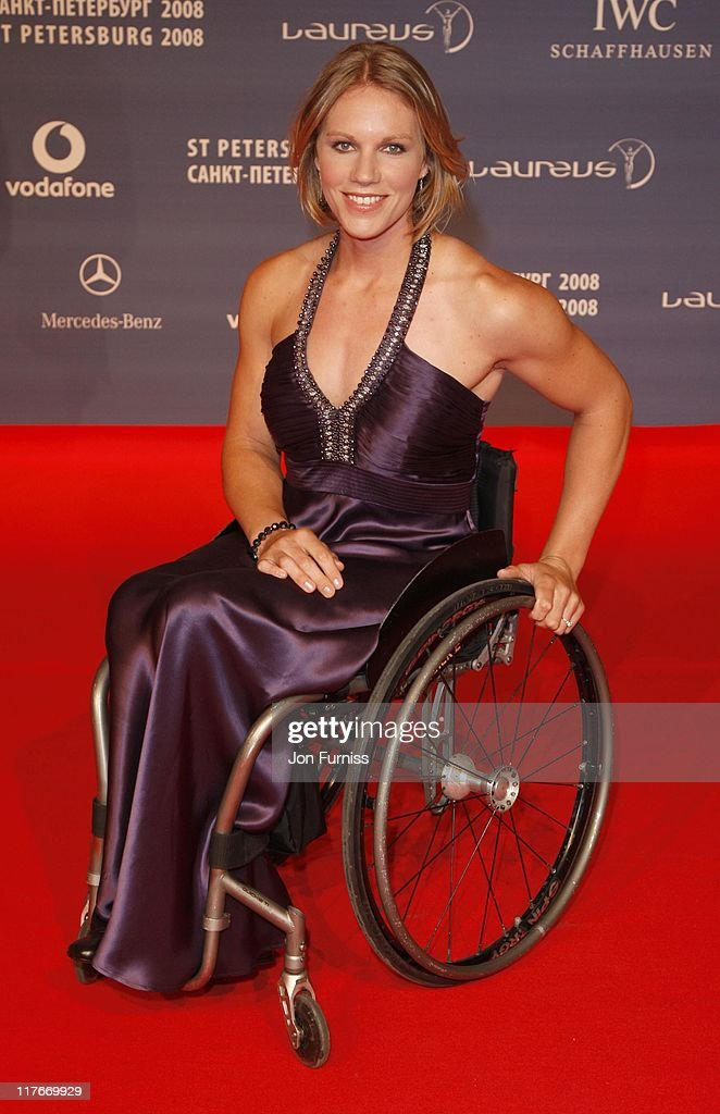 <a gi-track='captionPersonalityLinkClicked' href=/galleries/search?phrase=Esther+Vergeer&family=editorial&specificpeople=622149 ng-click='$event.stopPropagation()'>Esther Vergeer</a> attends the Laureus World Sports Awards 2008 held at the Mariinsky Theatre on February 18, 2008 in St Petersburg, Russia.