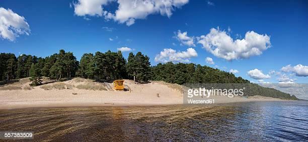 Estonia, Kauksi, Lake Peipus, view to beach