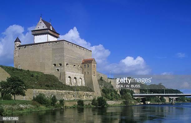 Estonia Narva 13th century castle on Narva river