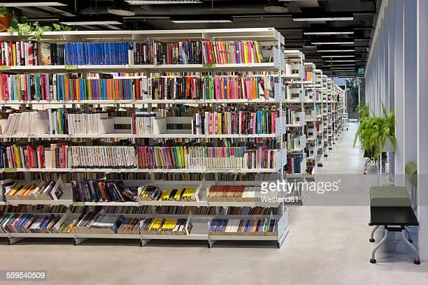 Estonia, Paernu, inside view of Public library