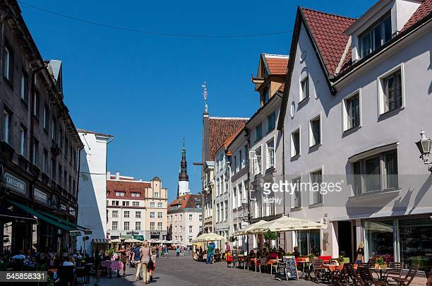 Estonia, Tallinn, Old town buildings
