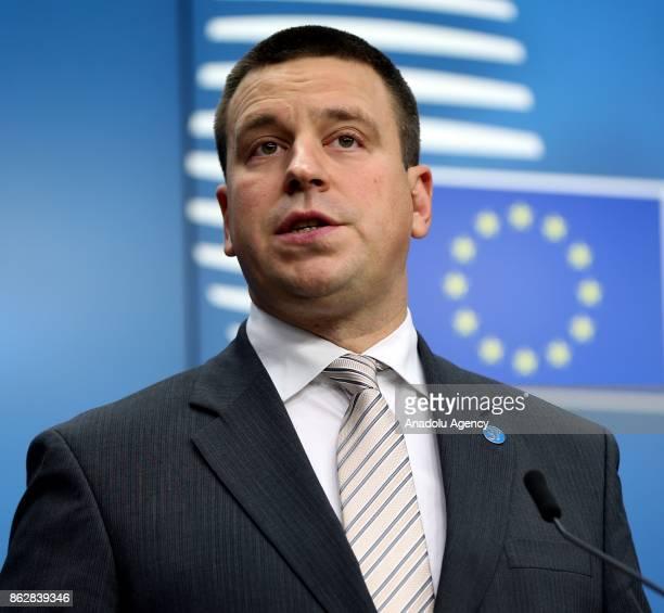 Estonian Prime Minister Juri Ratas European Trade Union General Secretary Luca Visentini Vice President of the European Commission Valdis Dombrovskis...