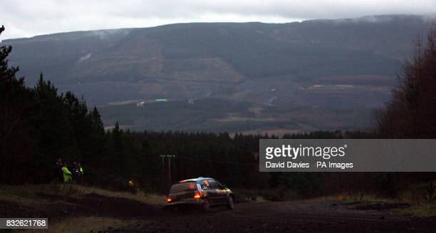 Estonia's Egon Kaur in his Renault Clio on the Rheola Special Stage during the Wales Rally Great Britian in Cardiff