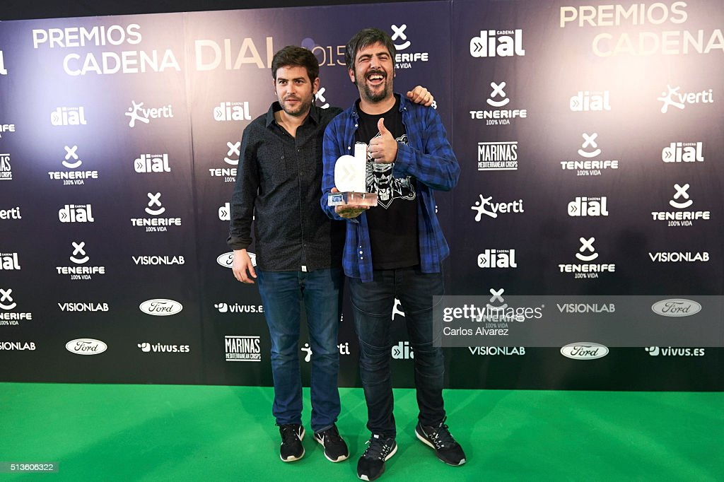 Estopa attends the 'Cadena Dial' 2015 awards press room at the Recinto Ferial on March 3, 2016 in Tenerife, Spain.