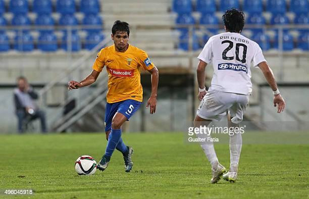 Estoril Praia's defender Anderson Luis in action during the Primeira Liga match between GD Estoril Praia and A Academica de Coimbra at Estadio...