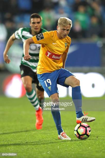 Estoril's midfielder Dmytro Yarchuk from Ucrania during the match between Estoril Praia SAD and Sporting CP for the Portuguese Primeira Liga at...