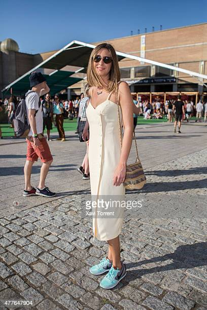 Estrella wears Flamingos Malaga dress Epoca Malaga bag Nike trainers and Persol sunglasses during day 1 of Sonar Music Festival on June 18 2015 in...