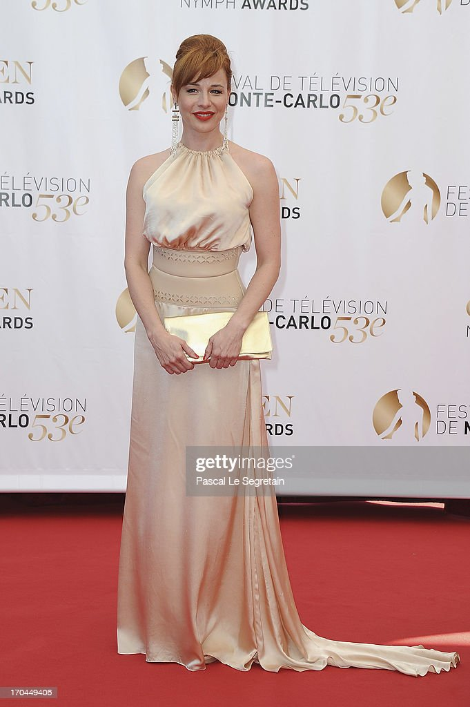 Eszter Onodi attends the closing ceremony of the 53rd Monte Carlo TV Festival on June 13, 2013 in Monte-Carlo, Monaco.