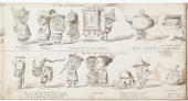 Etching by George Sala taken from the �Great Exhibition �Wot is to Be�� a satirical look at the forthcoming Great Exhibition of 1851 The...