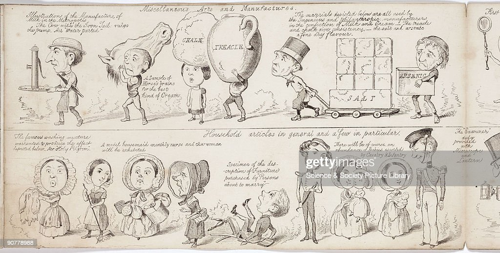 Etching by George Sala taken from the �Great Exhibition �Wot is to Be�� a satirical look at the forthcoming Great Exhibition of 1851 Suggested as...