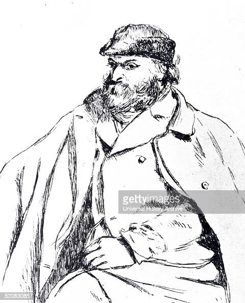 Etching of Paul Cézanne French artist and PostImpressionist painter By Camille Pissarro DanishFrench Impressionist and NeoImpressionist painter Dated...