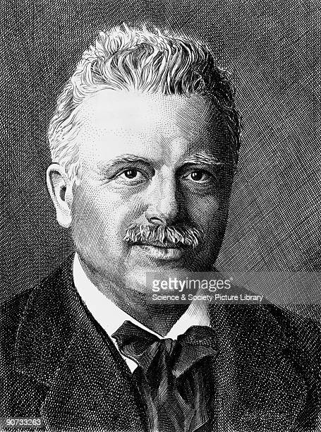 Etching of Vlademar Poulsen Poulsen was born in Copenhagen Denmark and worked for the Copenhagen Telephone Company In 1898 he invented the...
