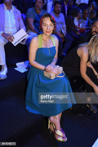 Etel Baler is seen during MercedesBenz Istanbul Fashion Week September 2017 at Zorlu Center on September 14 2017 in Istanbul Turkey