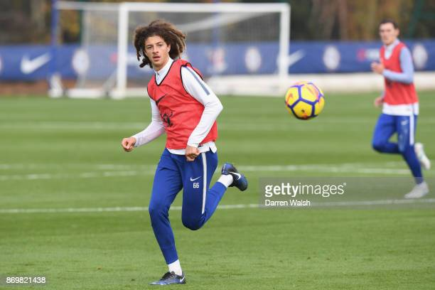 Ethan Ampadu of Chelsea during a training session at Chelsea Training Ground on November 3 2017 in Cobham England