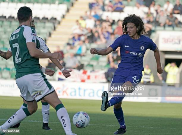 Ethan Ampadu of Chelsea during the Checkatrade Trophy match at Home Park on August 15 2017 in Plymouth England