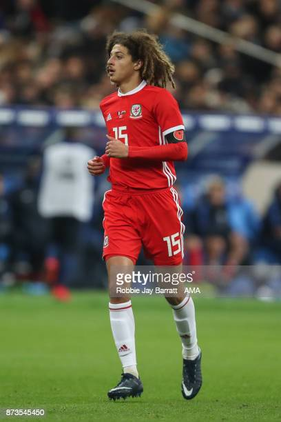 Ethan Ampadu of Wales during the International Friendly fixture between France and Wales at Stade de France on November 10 2017 in Paris France