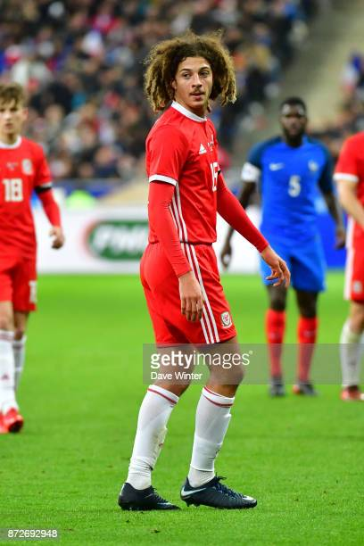 Ethan Ampadu of Wales during the international friendly match between France and Wales at Stade de France on November 10 2017 in Paris France