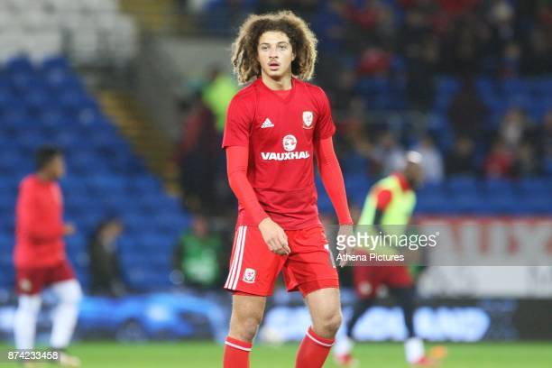 Ethan Ampadu of Wales prior to kick off of the International Friendly match between Wales and Panama at The Cardiff City Stadium on November 14 2017...