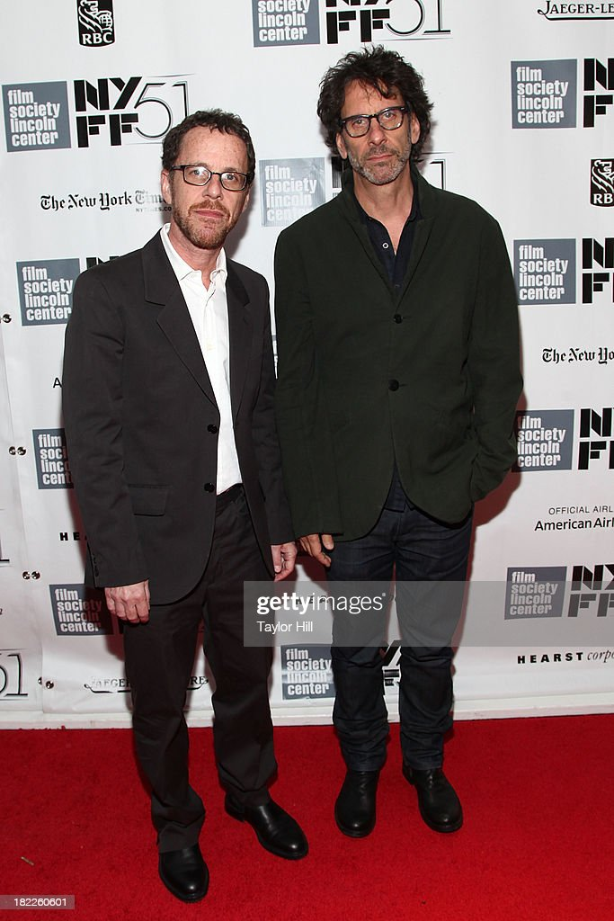 Ethan and <a gi-track='captionPersonalityLinkClicked' href=/galleries/search?phrase=Joel+Coen&family=editorial&specificpeople=4292064 ng-click='$event.stopPropagation()'>Joel Coen</a> attend the 'Inside Lleywn Davis' permiere during the 51st New York Film Festival at Alice Tully Hall at Lincoln Center on September 28, 2013 in New York City.