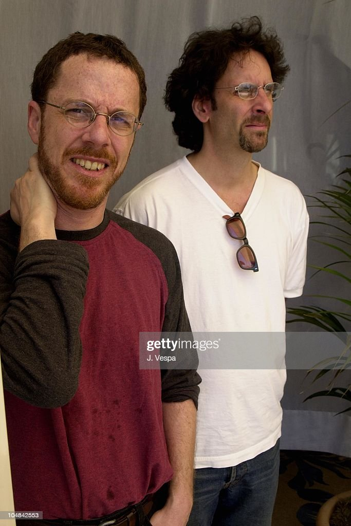 <a gi-track='captionPersonalityLinkClicked' href=/galleries/search?phrase=Ethan+Coen&family=editorial&specificpeople=1130888 ng-click='$event.stopPropagation()'>Ethan Coen</a> & <a gi-track='captionPersonalityLinkClicked' href=/galleries/search?phrase=Joel+Coen&family=editorial&specificpeople=4292064 ng-click='$event.stopPropagation()'>Joel Coen</a> during Cannes 2001 - The Man Who Wasn't There Portrait Shoot at Carlton La Cote in Cannes, France.