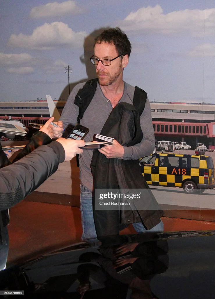 <a gi-track='captionPersonalityLinkClicked' href=/galleries/search?phrase=Ethan+Coen&family=editorial&specificpeople=1130888 ng-click='$event.stopPropagation()'>Ethan Coen</a> sighted arriving at Tegel Airport on February 10, 2016 in Berlin, Germany.