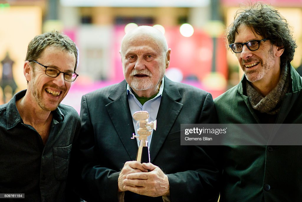 Ethan Cohen, Ben Barenholtz and Joel Cohen attend a photocall after the award ceremony during the 66th Berlinale International Film Festival Berlin at Martin Gropius Bau on February 12, 2016 in Berlin, Germany.