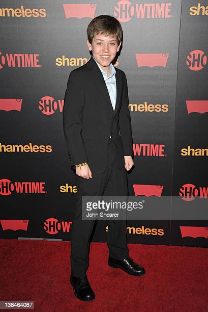 Ethan Cutkosky attends the 'Shameless' Season 2 Reception at Haus Los Angeles on January 5 2012 in Los Angeles California