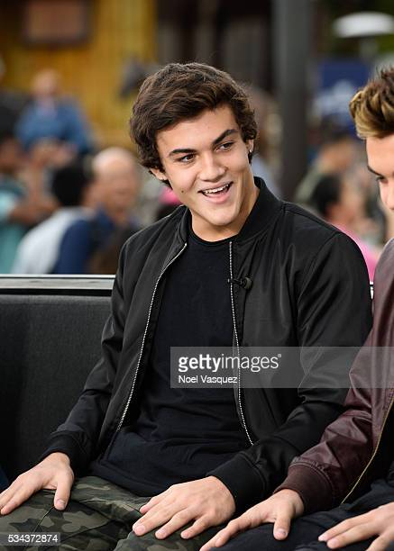 Ethan Dolan visits 'Extra' at Universal Studios Hollywood on May 25 2016 in Universal City California