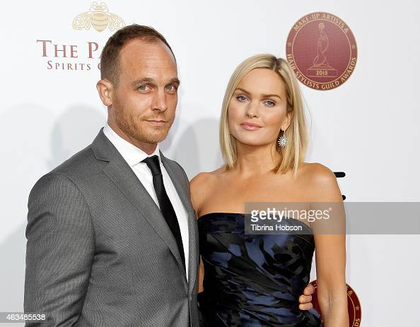 Ethan Embry and Sunny Mabrey attend the MakeUp Artists and Hair Stylists Guild Awards at Paramount Theater on the Paramount Studios lot on February...