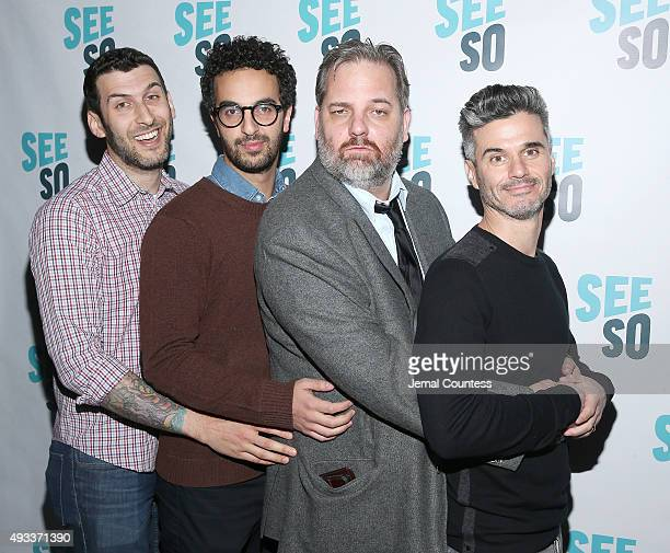 Ethan Fixell Dave Ahdoot actor/comedian Dan Harmon and media executive Evan Shapiro attend the 11th Annual New York Television Festival 'HarmonQuest...